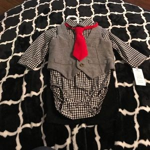 Carter's Just One You 3-Piece Set with Red Tie 6M